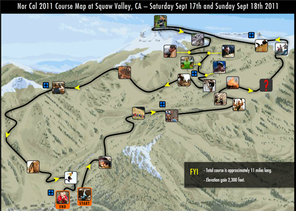 Map of the Tough Mudder Course
